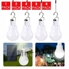 Rechargeable Solar Powered Panel 15W LED Bulb Home Camping Emergency Lamp Light