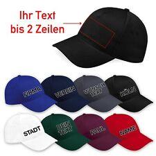 Basecap mit Wunschtext oder Namen bestickt, Caps, Hut, Kappe, Snapback, Mütze