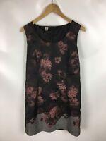 PIERO! Kleid, schwarz mehrfarbig, Größe 40, Baumwolle