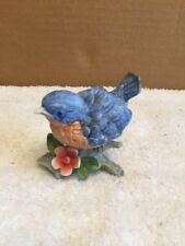 Homco Bird On Branch With Flower Figurine