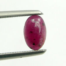 0.48 carat Oval 6x4mm Cabochon Cut Natural Ruby Loose Precious Gemstone - RCb11