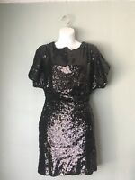 NORDSTROM $130 LuLu's Coveted Black Seqiun Cocktail Dress Size Small