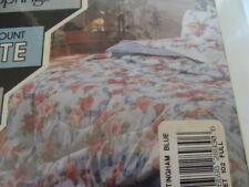"Vintage sheet set FULL Performance by Springs ""NOTTINGHAM BLUE"" Floral Brand NEW"