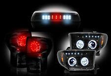 2007-13 Toyota Tundra Smoked Headlights Taillights & 3rd Brake Light - 5pc Kit