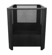 Jumbuck Square Steel Fire Pit bbq, pool party, firepit outdoor black