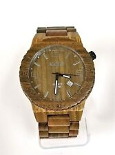 NEW BONOBOSS BROWN & OLIVE GREEN,NATURAL HANDMADE WOODEN BRACELET WATCH