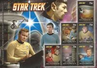 Micronesia 2008 Star Trek Kirk McCoy 6 Stamp Sheet 13Q-104