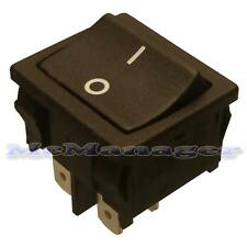 DPST On-Off Rocker Switch 10A/250V 2 Poles 4 Pin 19x22mm