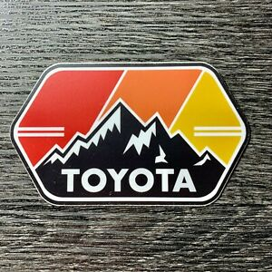 Toyota Mtn w/ Stripes Sticker Decal Tundra Tacoma SR5 4X4 4Runner Fj Cruiser TRD