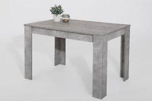Tisch Esstisch Esszimmertisch Betonoptik 120 x 80 cm