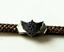 The legend of Zelda faux leather braided bracelet metal clasp hyrule Link