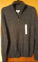 Croft&Barrow Men The Extra Soft Sweater 1/4 Zip Pullover Long Sleeve Size S