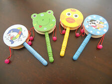 Wooden Musical Rattle Drum