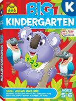 School Zone - Big Kindergarten Workbook For Kid Ages 5 to 6 Reading And Writing