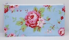 Cath Kidston Rosali Blue Fabric Handmade Make Up Bag Pencil Case Storage Pouch
