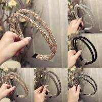 Women's Two-Layer Crystal Headband Hair Band Hair Hoop Accessories Gifts Party.