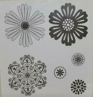 Stampin Up Mixed Bunch rubber cling stamps flowers floral blooms set of 6