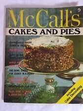 VINTAGE  McCalls Cakes And Pies  Cookbook 1965