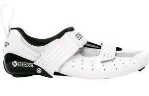 Bont Riot TR Triathlon Cycling Road Shoes in White - Size EU 36