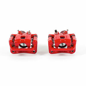 Power Stop Rear Red Calipers w/Brackets for 09-14 Acura TSX