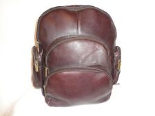Genuine Brown Leather Expandable backpack Made In Columbia.