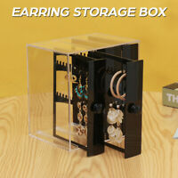 5 Drawer Acrylic Jewelry Storage Box Earring Necklace Display Cabinet