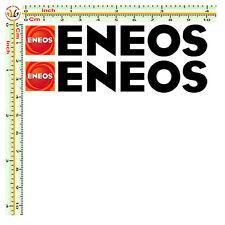 eneos adesivi sticker sponsor decal moto size cm.10 pvc nero prespaziato 2 pz.