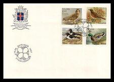 Iceland 1987 FDC, Birds II. Lot # 2.