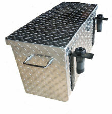 "Polaris Diamond Plate Aluminum Tool Box 16"" Universal"