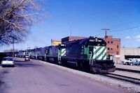 Original Slide Burlington Northern BN 7057 Leads Walsonburg, CO 1981
