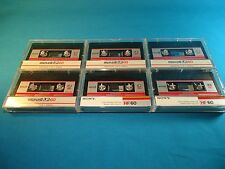 LOT - 6x Maxell UR 60 Blank Audio Cassette Tapes (1985-1987 Version) - Used