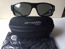 ARNETTE WAGER 41/87 Sunglasses Gloss Black Frame w Grey LensAN4144-07- BNWT