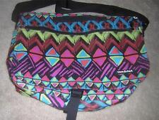 YAK PAK Bright Aztek Design Ballistic & Nylon Large Messenger Bag NEW