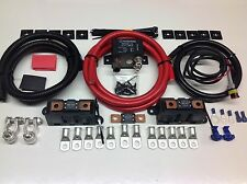 5 MTR HEAVY DUTY SPLIT CHARGE SYSTEM 300AMP Heavy Duty Relay & 300 AMP Cables