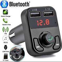 Kit manos libres Bluetooth para coche, Transmisor FM, Reproductor, Cargador USB
