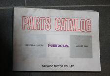 Daewoo Nexia Catálogo de piezas Regiones 08/1998 con Dibujos explosión