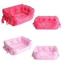 Pet Dog Cat Soft Bed House Kennel Doggy Puppy Warm Cushion Sofa Hut Nest Pad Mat