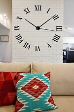 Wall Vinyl Sticker Decor Dial Roman Numerals Circle Time's Clock (n083)