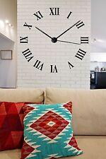Wall Vinyl Sticker Decor Dial Roman Numerals Circle Time's Clock (n083)