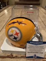 Antonio Brown Autographed/Signed Mini Helmet Beckett COA Pittsburgh Steelers C