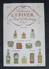 LT PIVER PARIS feuillet publicitaire illustré porte carte parfumée FETICHE