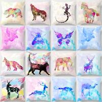 GI- Colorful Cartoon Animals Pillow Case Home Sofa Waist Throw Decor Cushion Cov