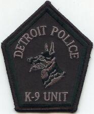 DETROIT MICHIGAN MI Black Background K-9 POLICE PATCH