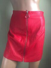 Forever 21 Mini Skirt High Waist Full Zipper Style Red Size L Junior RN#94981