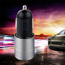 2 IN 1 UNIVERSAL LED USB 12-24V DUAL CAR CHARGER CIGARETTE SOCKET LIGHTER New