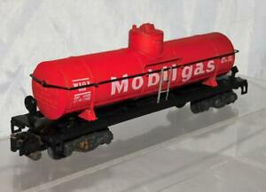 American Flyer 958 Mobilgas Single Dome Tank Car Red C7 1957 Uncat 4-51 Plastic