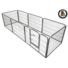 Ellie-Bo Heavy Duty 8 Piece Puppy Whelping Puppy Pen Enclosure 60cm High