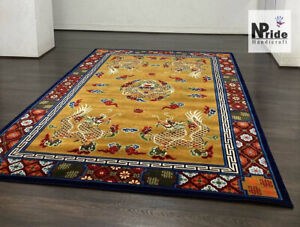 Tibetan Dragon Rug Carpet - Wool - Handknotted - Home decoration-  Made to Order