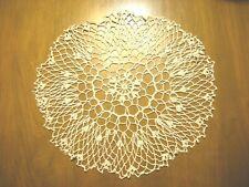 Hand Crocheted Crochet Round Doily Centerpiece16 inches