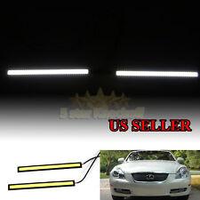 Hood Scoop/Bumper Glow For Dodge! Usa Cob 6000K White Led Daytime Running Lights(Fits: Neon)